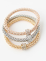 Wrap Bracelets 1set,Double-layer Round Golden Alloy Jewelry Gifts