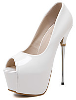 Women's Sandals Summer Sandals / Open Toe Patent Leather Dress Stiletto Heel Others Black / White Others