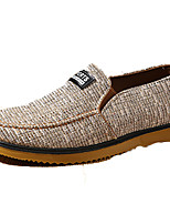Women's Shoes Linen Spring / Fall Comfort / Flats Sneakers Outdoor / Casual Flat Heel Slip-on Khaki Walking