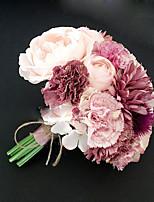 Bouquets de Noiva Redondo Peônias Buquês Casamento Poliéster 7.48