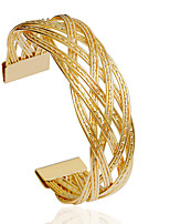 Bangles 1pc,Fashionable Circle Golden / Silver Alloy Jewelry Gifts