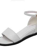 Women's Sandals Summer Sandals / Open Toe PU Casual Wedge Heel Others Black / White / Silver Others
