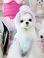 Dog Hoodie / Dress Blue / Pink Winter / Spring/Fall Solid Casual/Daily Dog Clothes / Dog Clothing-Other