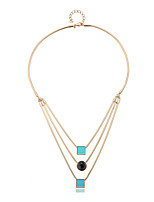 LGSP Necklace Layered Necklaces Jewelry Alloy Daily Gold 1pc Gift