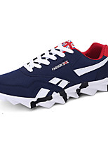 Men's Sneakers Spring / Fall Comfort Tulle Casual Flat Heel Lace-up Black / Blue / Red Walking