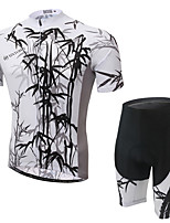Men's Cycling Clothing Sets New Fashion Ink-bamboo Pattern Bicycle Sports Comfortable Short Cycling Jersey 1 Set