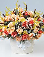 1 1 Филиал Пластик Розы Букеты на стол Искусственные Цветы 11.8inch/30cm
