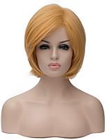 peluca de color amarillo dorado, nueva, peluca corta el pelo todos los días esponjoso Europa y los Estados Unidos.