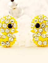 Earring Animal Shape Stud Earrings Jewelry Women Fashion Daily / Casual Alloy 1 pair Yellow