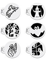 6pcs Halloween Stencils Template Cookie Stencil Set Cake Decoration Stencils Fondant Cake Design Stencil  ST-911