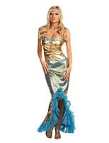 Costumes de Cosplay / Costume de Soirée Sirène / Esprit Fête / Célébration Déguisement Halloween Bleu Ciel Vintage RobeHalloween / Noël /