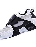 Черный / Красный / Белый-Унисекс-Для прогулок / На каждый день-Тюль-На платформе-Удобная обувь-Кеды