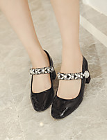 Women's Heels Spring / Summer / Fall Heels Patent Leather Casual Low Heel Sparkling Glitter Black / Nude Others