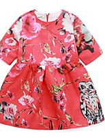 Girl's Casual/Daily Jacquard Dress / BlouseCotton Spring / Fall Red