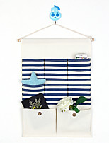 Eight Pockets Behind The Door Stripe Storage Bag