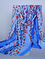 Women's Chiffon Leopard Print Scarf,Pink/Orange/Blue/Royal Blue/Gray/Yellow
