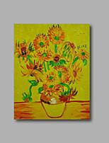 Ручная роспись Абстракция / Цветочные мотивы/ботанический Картины маслом,Modern 1 панель Холст Hang-роспись маслом For Украшение дома