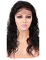Unprocessed Peruvian Human Virgin Hair 10-26 Inch 1# Jet Black Color Natural Curly Front Lace Wig With Baby Hair
