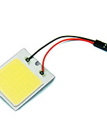 2pcs Car Vehicle LED 48 SMD COB Chip With T10 + Festoon Socket Panel Light Interior White Bulb(DC12V)