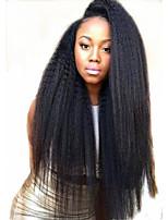 EVAWIGS  Italian Yaki African American Human Hair Wigs Best Glueless Brazilian Virgin Kinky Straight Lace Front Wigs