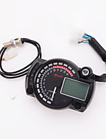 12V Digital for Automobile and Motorcycle Speedometer Odometer Tachometer LCD Backlight MPH and KMH