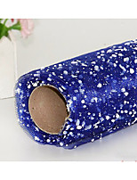 Fresh Flower Packing Material Flower Bouquet Packing Snow Point Gauze Net Length 3.6 Meters Wide 50cm