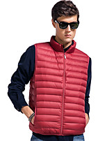 Lesmart Men's Stand Sleeveless Vest & Waistcoat Blue / Red / Green-XW13418