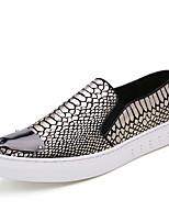 Черный Темно-коричневый-Для мужчин-Для прогулок Повседневный Для занятий спортом-Кожа-На плоской подошве-Удобная обувь-Кеды