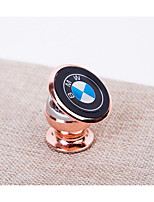 24K Metal Magnetic Vehicle Mounted Mobile Phone Holder 360 Degree Rotating Automobile Mobile Phone Support