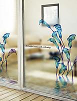 Window Film Window Decals Style Calla Lily Matte PVC Window Film - (60 x 58)cm
