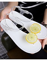 Women's Sandals Summer Sandals PVC Outdoor / Casual Flat Heel Others Black / White Others