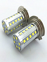 2PCS H7 6W 36*2835 SMD 1200LM 6500K/3500K White Light/Warm White LED for Car Headlamp fog lamp(12-24V)