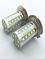 2pcs h7 6w 36 * 2835 smd 1200lm 6500k / 3500k lumière blanche / blanc chaud led pour lampe voiture phare antibrouillard (12-24v)