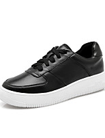 Women's Sneakers Fall Comfort / Round Toe / Closed Toe Leather Casual Platform Black Walking