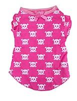 honden T-shirt Roze Winter / Zomer / Lente/Herfst Klassiek / Doodskoppen Bruiloft / Kerstmis / Valentijn / Modieus, Dog Clothes / Dog