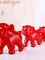 Red Resin Handicraft Three Even as Furnishing Articles