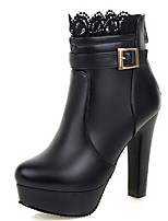 Women's Shoes Boots Spring/Fall/Winter Heels/Platform/Bootie/Round Toe Office Career/Party Evening/Casual Chunky