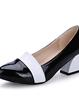 Women's Dance Shoes Heels Modern Leatherette Low Heel Outdoor Black/White