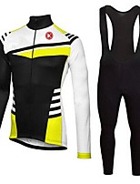 KEIYUEM®Spring/Summer/Autumn Long Sleeve Cycling Jersey+long Bib Tights Ropa Ciclismo Cycling Clothing Suits #L59