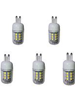 5W G9 LED Corn Lights  27 SMD 5050 380 lm Warm White / Cool White Decorative AC 220-240 V 5 pcs