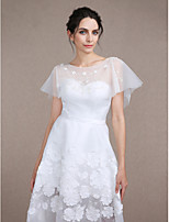 Women's Wrap Capelets Sleeveless Tulle Ivory Wedding / Party/Evening Scoop  Beading / Embroidery / Pattern