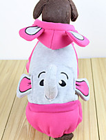 Dog Hoodie Red / Blue / Pink Winter / Spring/Fall Color Block / Animal Casual/Daily Dog Clothes / Dog Clothing-Other