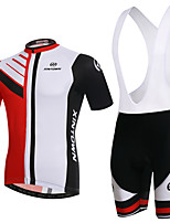 Men's Cycling Clothing Sets New Fashion Bipolar Styles Pattern Bicycle Sports Comfortable Short Cycling Jersey 1 Set