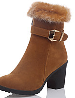 Women's Boots Spring / Fall / Winter Fashion Boots / Round Toe Leatherette Outdoor /  Casual Chunky Heel