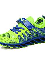 Per bambino-Sneakers-Tempo libero-Comoda-Piatto-Tulle-Blu / Verde