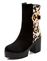 Women's Shoes Chunky Heel Round Toe Platform Leopard Print Boot More Color Available