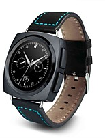 Leather Strap Smart Watch AL11 with Touch Screen Heart Rate Sensor Pedometer Push Message Function
