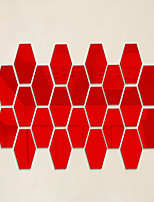 3D Hexagon Wall Stickers Plane Wall Stickers / Mirror Wall Stickers ,12Pcs/Set Wall Stickers Acrylic Decals Home Decor