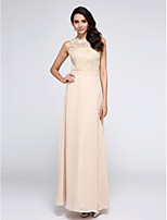 TS Couture® Formal Evening Dress - Beautiful Back Sheath / Column Jewel Ankle-length Chiffon / Lace with Lace