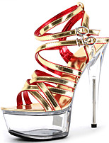 Women's Sandals Spring/Summer/Fall Heels /Peep Toe Synthetic Party & Evening Stiletto Heel Crystal/Black/Gold